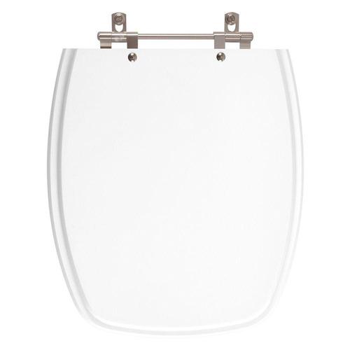 assento sanitário poliéster laguna branco para louça hervy