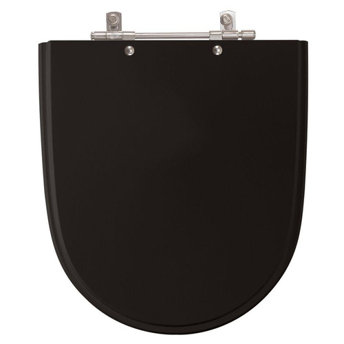 assento sanitário poliéster mondiale preto para louça celite