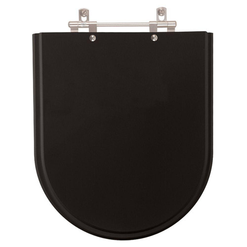 assento sanitário poliéster montezzi preto para vaso belize
