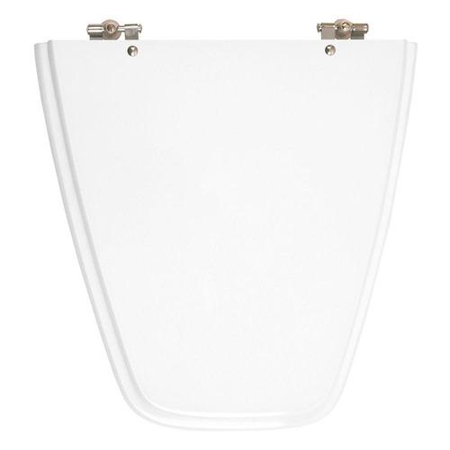 assento sanitário poliéster plaza neve para louça ideal standard
