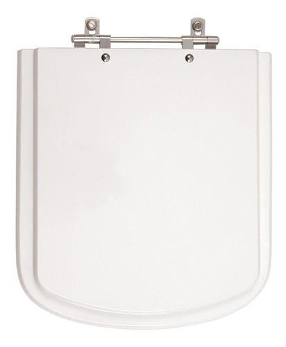 assento sanitário poliéster quadra branco para louça deca
