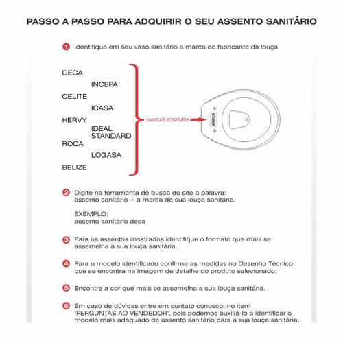 assento sanitário poliéster riviera água marinha para celite
