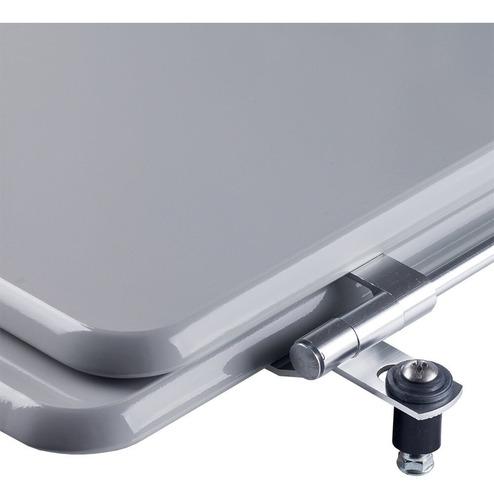 assento sanitário poliéster stylus cinza para louça celite