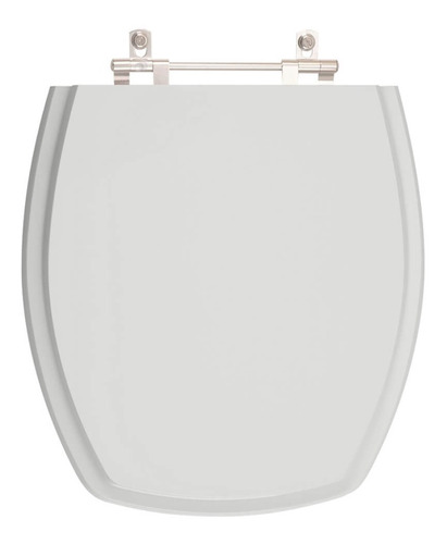 assento sanitário poliéster thema cinza platina para incepa