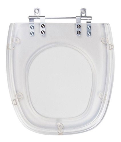 assento sanitário poliéster thema cristal para louça incepa