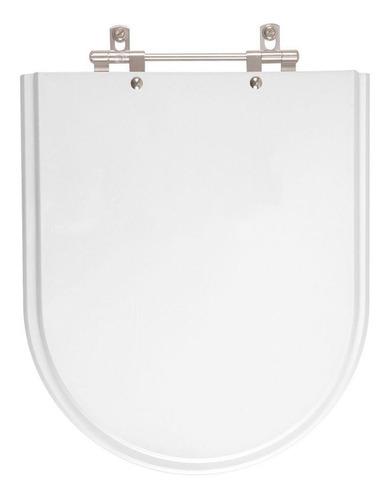 assento sanitário poliéster valentina branco p/ louça hervy