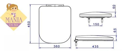 assento sanitário quadra polo unic axis deca ap.215.95 ebano