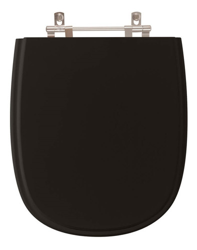 assento sanitário sabatini preto para louça icasa