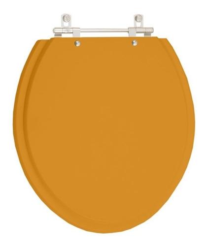 assento sanitário saveiro amarelo terra para louça celite