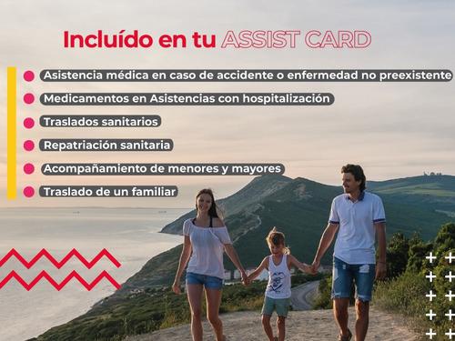 assist card - 150.000 usd de asistencia en viaje - 30 días