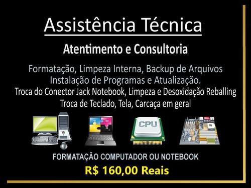 assistência técnica formatação pc e notebook