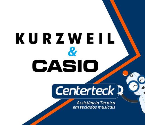 assistência técnica serviço reparo teclado kurzweil e casio