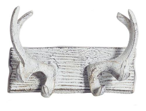 astas de ciervo de hierro fundido vintage ganchos de pa...
