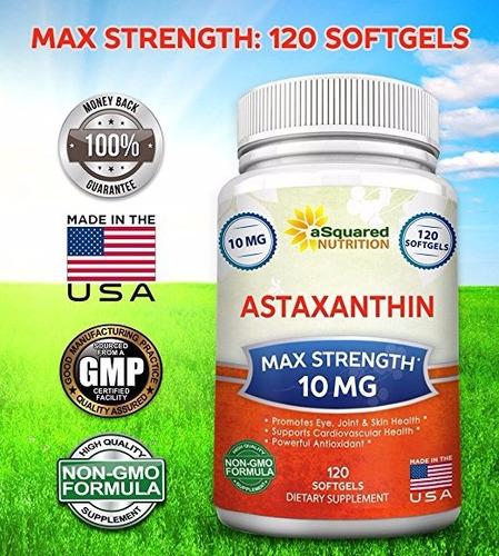 astaxantina 10mg antioxidante,mejor visión,previene arrugas