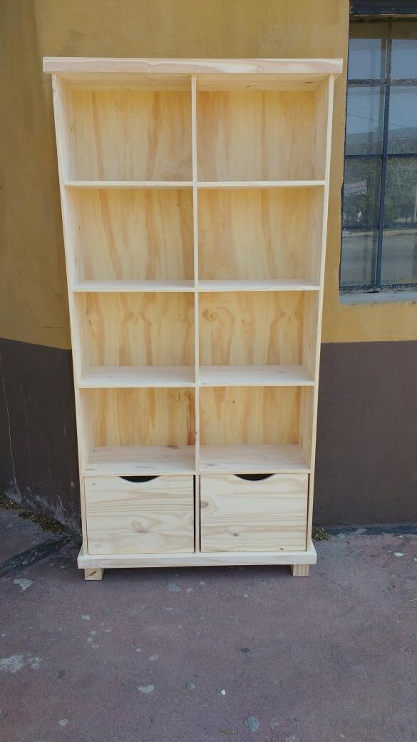 Astilla Muebles: Biblioteca Cubo De Pino Con Cajones - $ 3.000,00 en ...