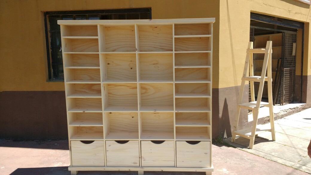 Astilla Muebles: Biblioteca Cubo De Pino Con Cajones - $ 4.700,00 en ...