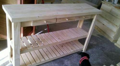 astilla muebles: mesa quesera de pino.