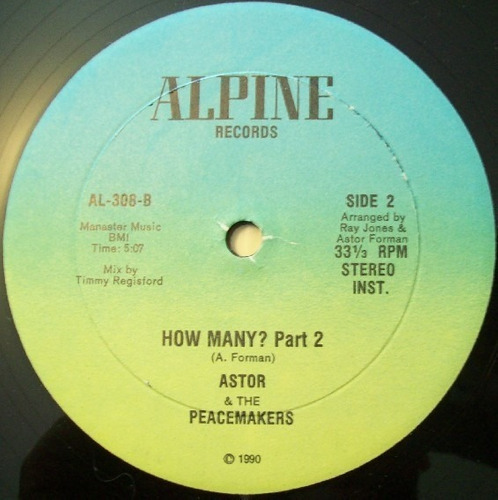 astor and the peacemakers   12 single  how many?