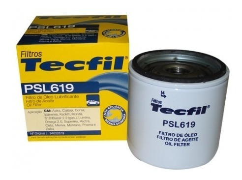 astra, celta, corsa, kadett, monza, omega, vectra psl619 tecfil filtro óleo tecfil gm onix 1.4 12 em diante