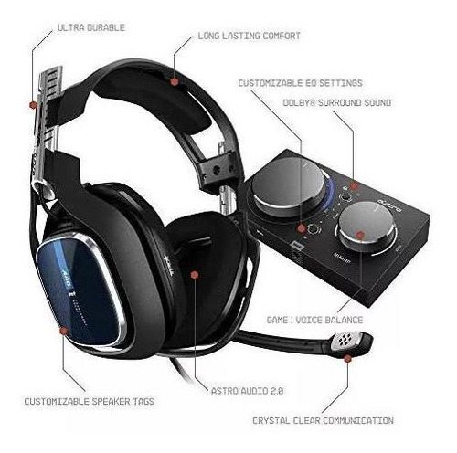 astro a40 juegos tr audifonos con cable + mixamp pro