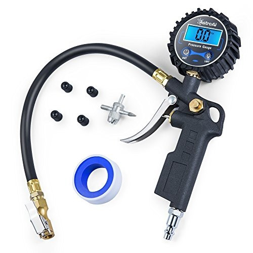 astroai digital inflador de neumáticos con medidor de presió