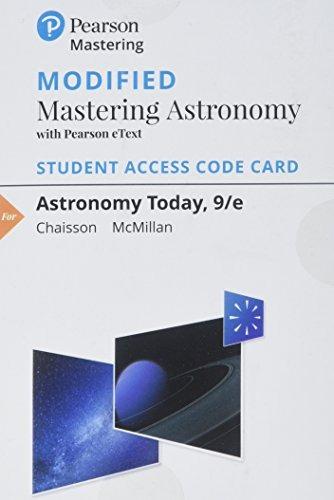astronomía modificada de masterización con pearson etext -