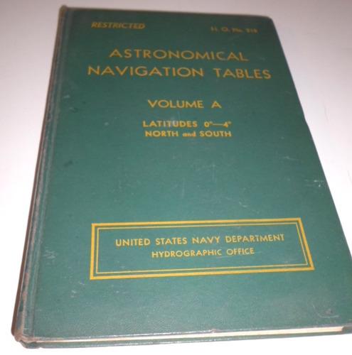 astronómical navigation tables