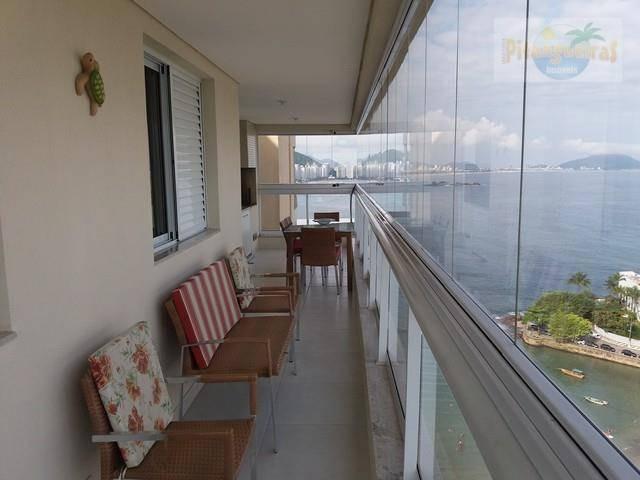astúrias,vista cinematográfica as praias de astúrias e tombo,frente ao mar com varanda grill,lazer total,2 garagens,novo,top!!! - ap2659
