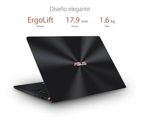asus - laptop zenbook pro ux480fd-be042r de 14  - core i5 -