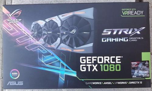 asus strix gtx 1080 como nueva c/caja y accesorios. probada.