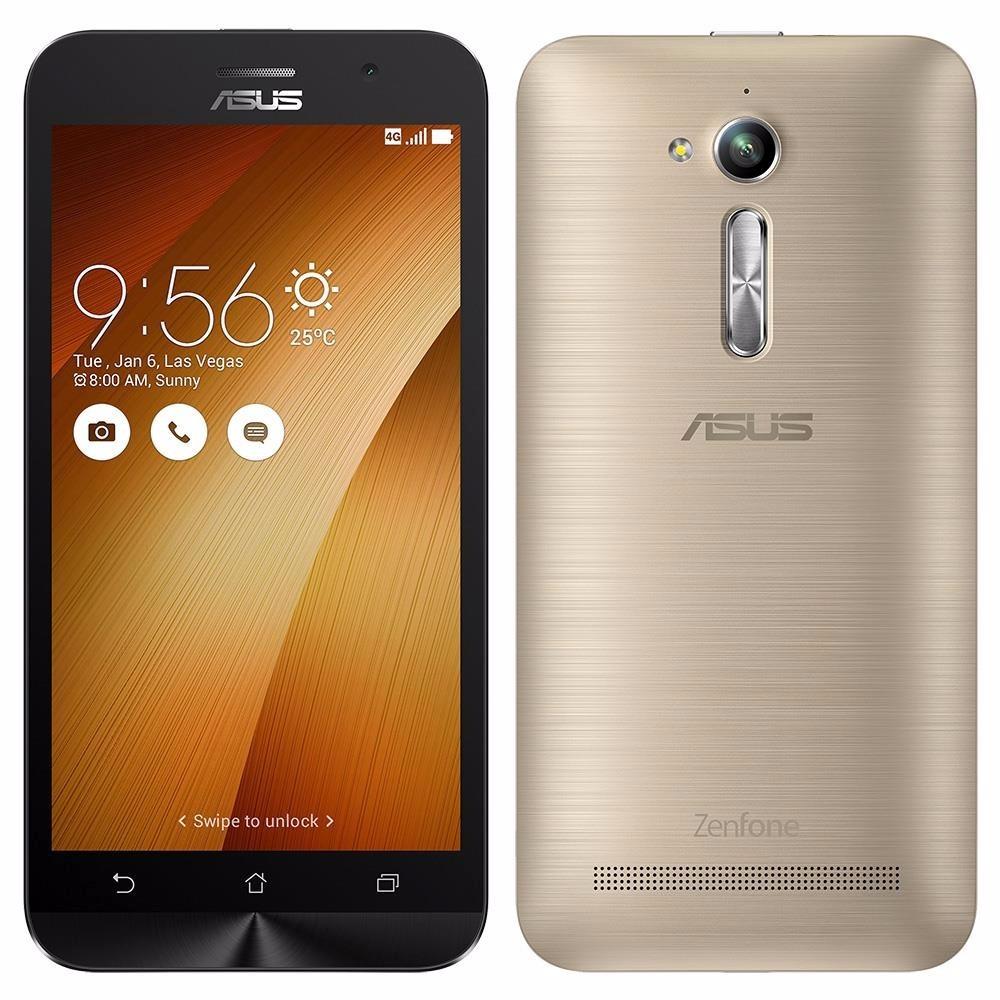 Celular Asus Zenfone Go Lte Zb500kl Dourado 8 Gb Tela 5