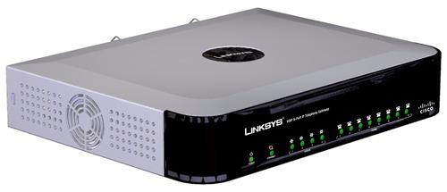ata gateway voip cisco linksys spa8000 + 8 portas fxs
