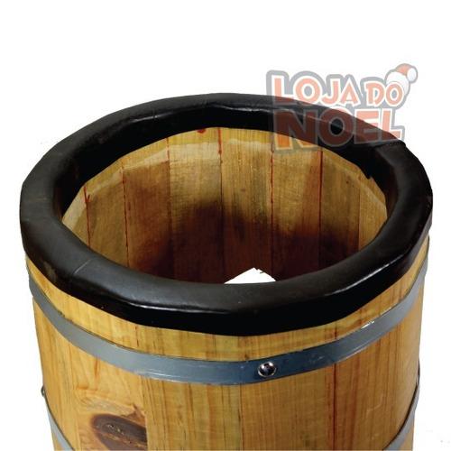 atabaque 90 cm c/ suporte redondo afinação tarraxa madeira