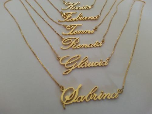 atacado 10 colares em banho de ouro - todos os nomes