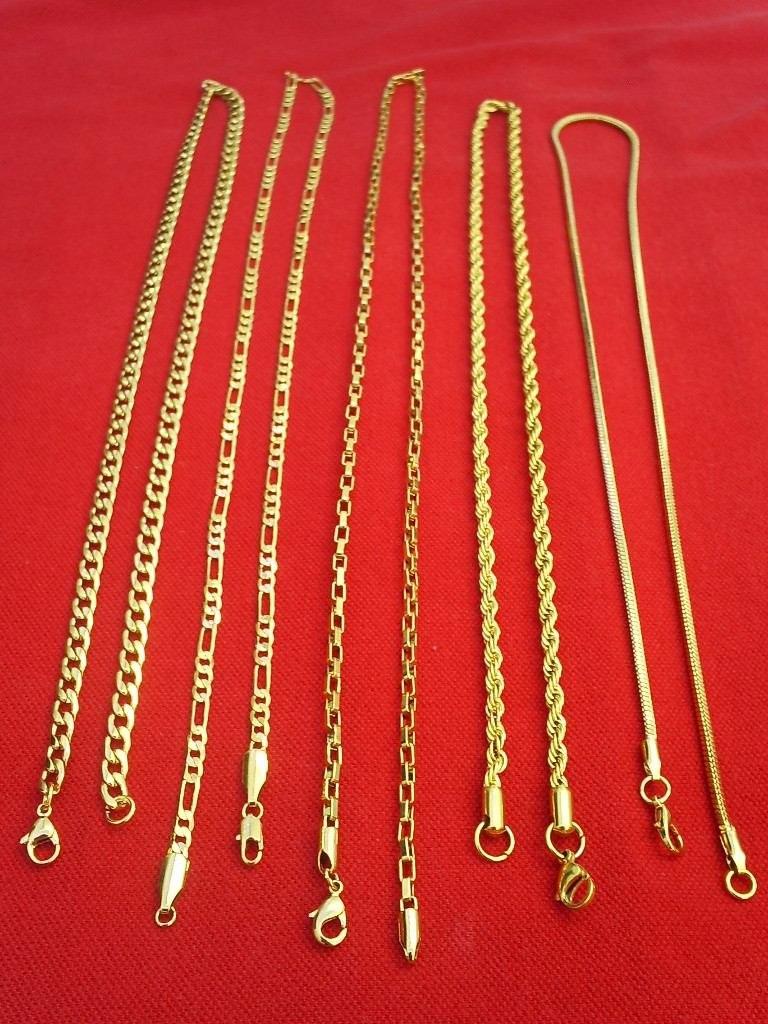 33476dbce8952 atacado 10 jóias correntes pulseiras folheado ouro 18k. Carregando zoom.