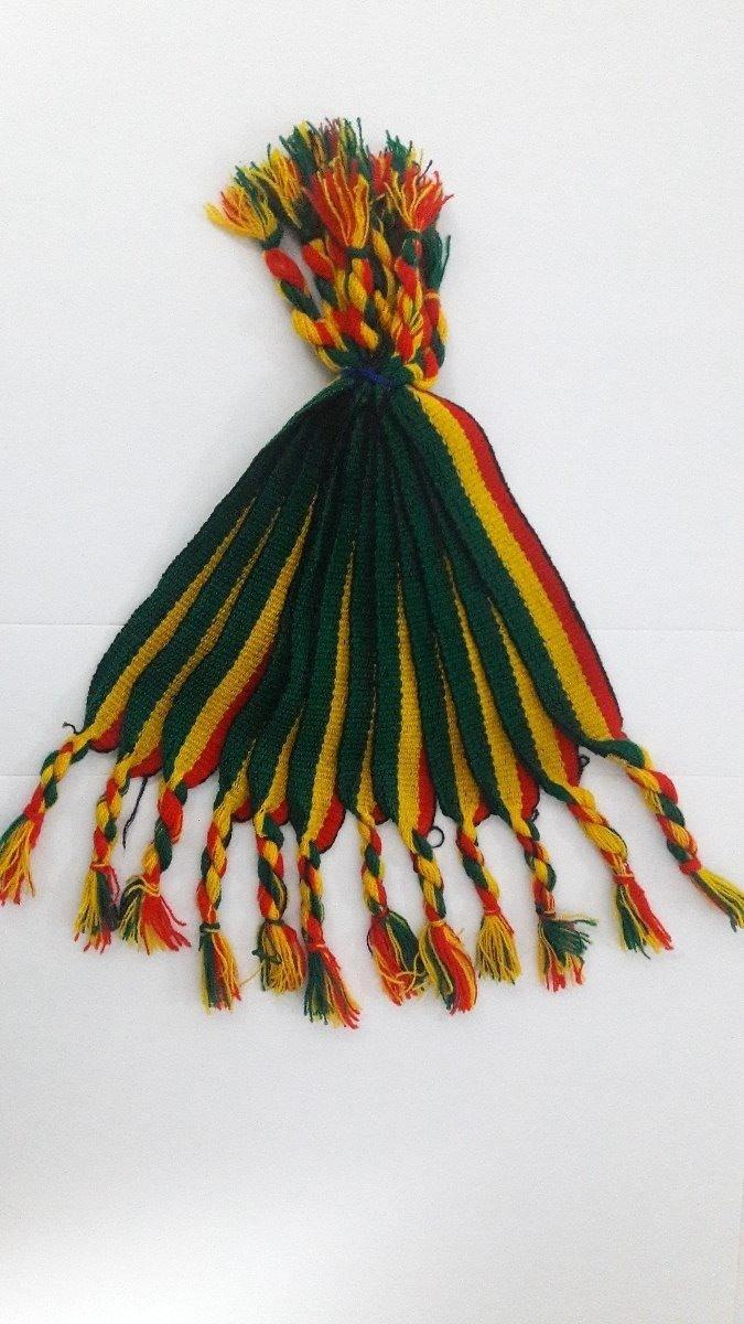 87f7cbcf6a3 Atacado 12 Pulseiras Tornozeleiras Reggae Jamaica Grossa 2cm - R  14 ...