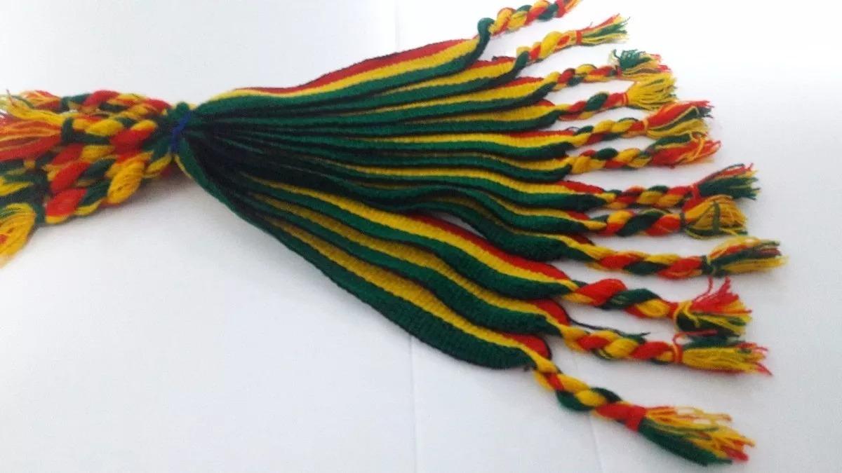 a5e695a60ee Atacado 12 Pulseiras Tornozeleiras Reggae Jamaica Grossa 2cm - R  27 ...