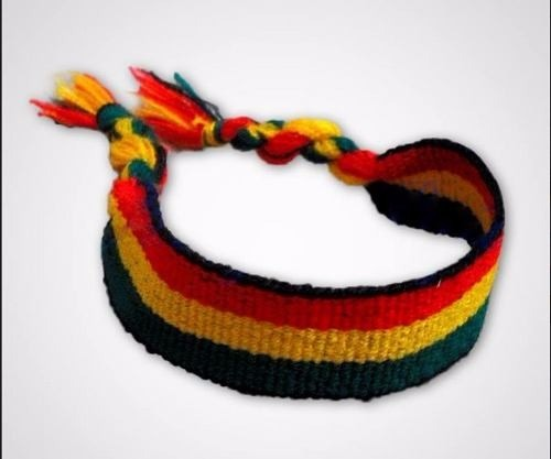 a070d78e8e1 Atacado 12 Pulseiras Tornozeleiras Reggae Jamaica Grossa 4cm - R  20 ...