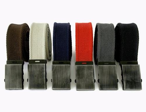 atacado 16 peças - cinto masculino fivela militar algodão