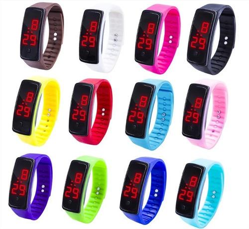 atacado 20 relógios led digital unissex fitness lote revenda