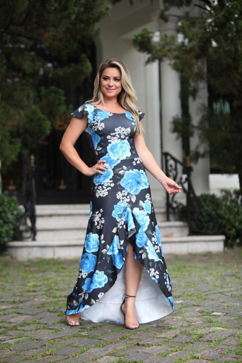7027a40ec atacado 3pçs vestido longo mullet floral moda evangélica zm. Carregando zoom .