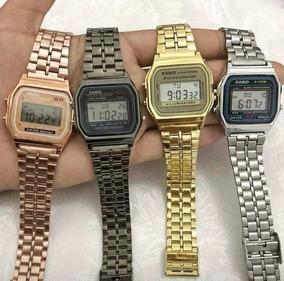 f717adba6ede Relogio Casio Retro Vintage Dourado Fundo Preto - Relógios no Mercado Livre  Brasil