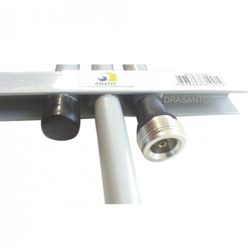 atacado 5  antena celular 3g 2g 15 dbi quadriband 10mt cabo