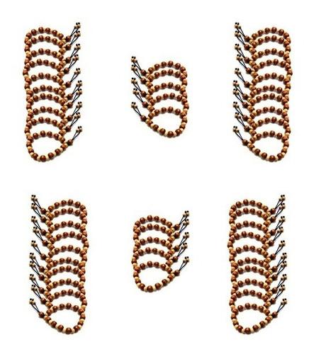 atacado 50 pulseira japamala 27 contas madeira - pulseiras para mantras -  12x sem juros com frete grátis