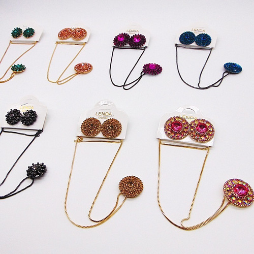 atacado bijoux 10 conjunto luxo colar gargantilha brincos