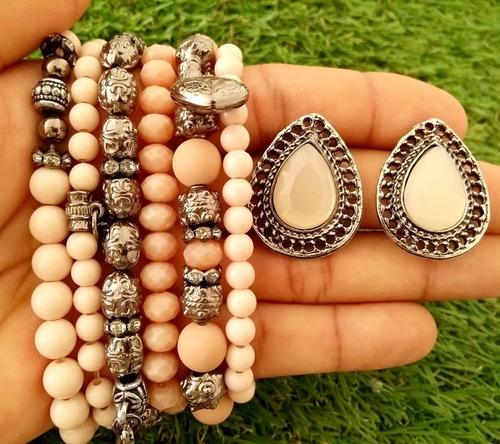 atacado bijuterias 8 pulseiras variadas + frete grátis