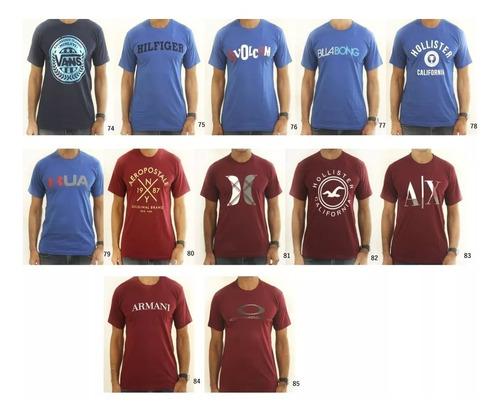 atacado de camiseta masculina kit com 10 peças