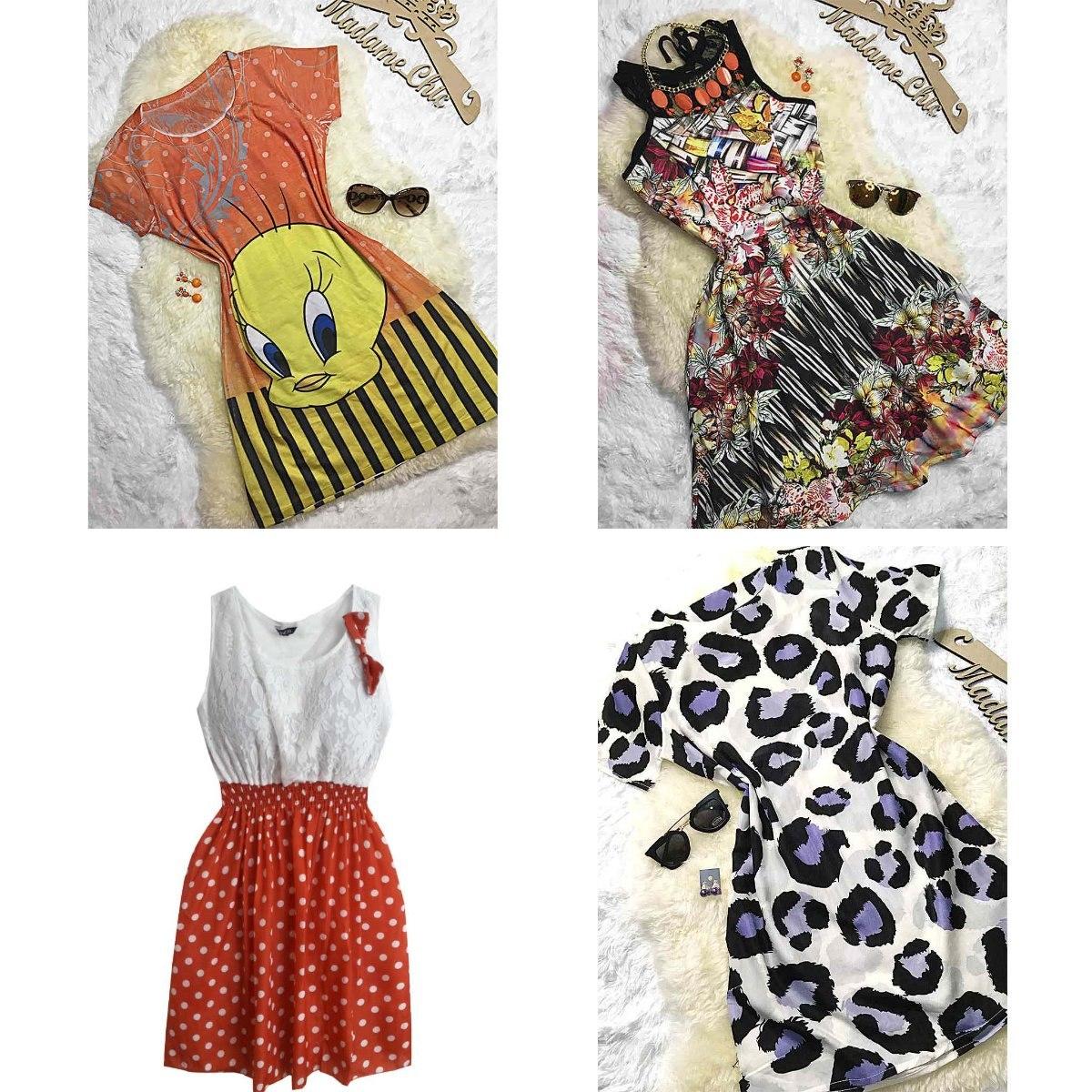atacado de roupas online vestidos femininos lote 4 peças. Carregando zoom. c6a3a969aab