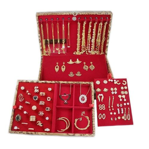 atacado kit 260 peças semi-jóias folheadas