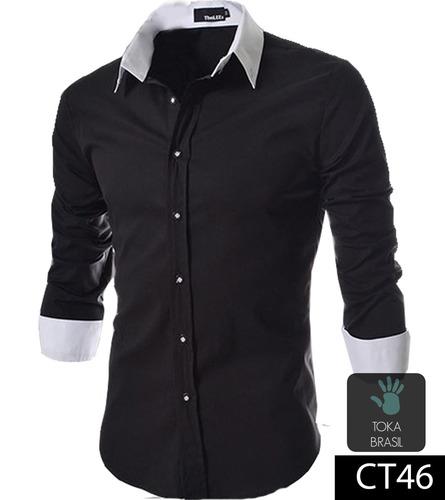 8cbe1ee684 Atacado Kit 5 Camisa Social Slim Fit 100% Algodão - R  330